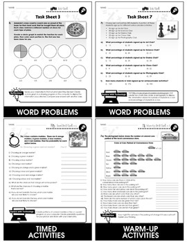 Data Analysis & Probability - Task & Drill Sheets Gr. 3-5