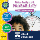 Data Analysis & Probability - Task & Drill Sheets Gr. 3-5 - Distance Learning