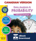 Data Analysis & Probability - Task & Drill Sheets Gr. 3-5 - Canadian Content