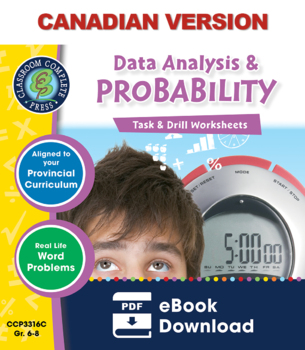 Data Analysis & Probability - Task & Drill Sheets Gr. 6-8 - Canadian Content