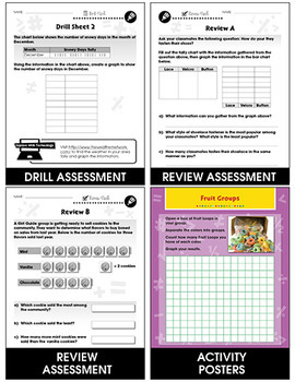 Data Analysis & Probability - Task & Drill Sheets Gr. PK-2