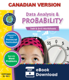 Data Analysis & Probability - Task & Drill Sheets Gr. PK-2 - Canadian Content