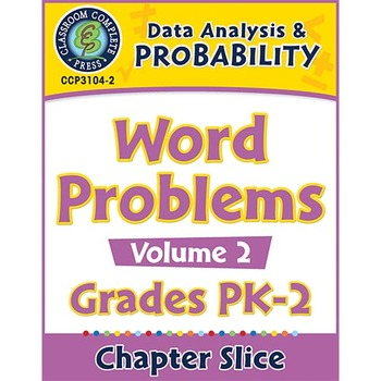 Data Analysis & Probability: Word Problems Vol. 2 Gr. PK-2