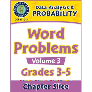 Data Analysis & Probability: Word Problems Vol. 3 Gr. 3-5