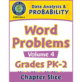 Data Analysis & Probability: Word Problems Vol. 4 Gr. PK-2
