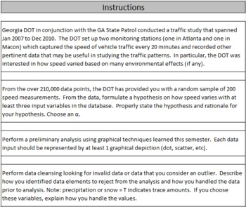 Data Analysis Project - Traffic Data at Two Monitoring Stations