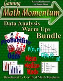Data Analysis Review Warm Ups Bundle - Probability & Stati