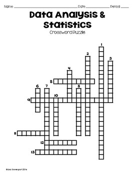 Data analysis statistics crossword puzzle by lisa davenport tpt data analysis statistics crossword puzzle ccuart Image collections