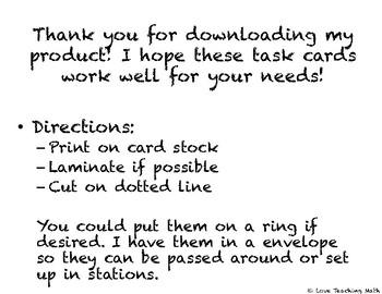 Data Analysis Task Cards