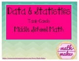 Data & Statistics Task Cards  Middle School Math 6th & 7th grade