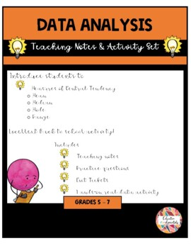 Data Analysis - Teaching Notes & Activity