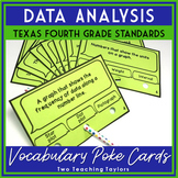 Data Analysis Vocabulary Poke Cards: 4th Grade