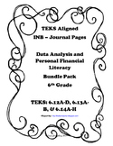 Data Analysis and Personal Financial Literacy INB Bundle Pack – 6th Grade TEKS