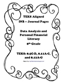 Data Analysis and Personal Financial Literacy INB Bundle Pack - 8th Grade TEKS