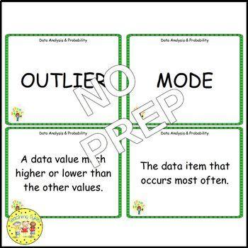 Data Analysis and Probability Pre-Algebra Vocabulary Cards