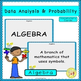 Data Analysis and Probability Vocabulary Cards
