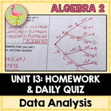 Data Analysis and Statistics Homework (Algebra 2 - Unit 13)