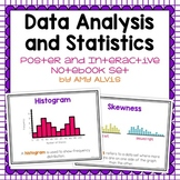 Data Analysis and Statistics Posters and Interactive Notebook INB Set