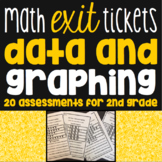 Data And Graphing Exit Tickets - 20 Math Assessments for 2