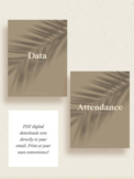 Speech Therapy Data + Attendance Binder Covers | Instant Download