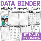 Data Binder for Primary Students {Editable for Your Classroom}