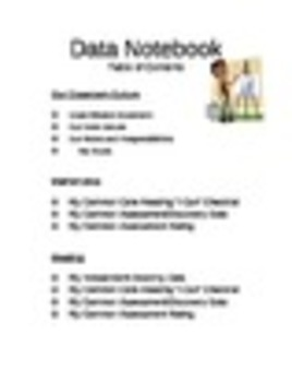 data binder table of contents by mrs chatmon teachers pay teachers