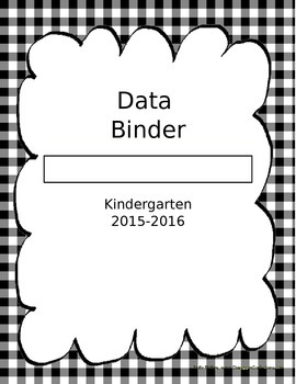 Data Binder Cover Page