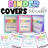Binder Covers EDITABLE Data Binder, Student Information, L