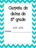 Data Binder Cover in Spanish ~ Portada de Cuaderno de datos