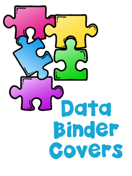 data binder covers puzzle pieces from autism classroom by autism