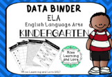 Data Binder KINDERGARTEN ELA English Standards Goals