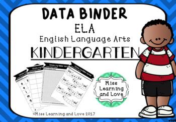 Data Binder KINDERGARTEN ELA English Standards Goals
