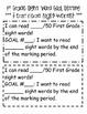 Data Binder/Leadership Notebook Sight Word Tracking