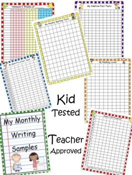 Data Binder Pages for Students and Teacher