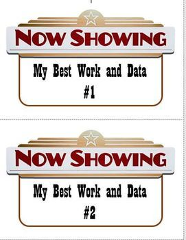 Data Binder & Student Work Binder Labels - Hollywood Theme