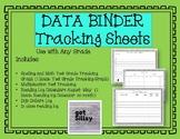 Data Binder Tracking Sheets