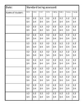 Data Binder for Common Core Algebra 1