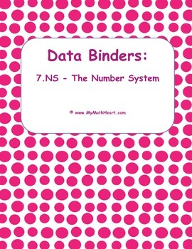 """Data Binders: 7.EE - Expresions & Equations - """"I Can"""" Statements"""
