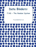 """Data Binders: 7.NS - The Number System - """"I Can"""" Statements"""
