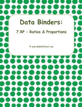 """Data Binders: 7.RP - Ratios & Proportions - """"I Can"""" Statements"""