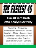 Data Charts and Graphs Activity - The Fastest 40 - Statistics - 6th Grade Math