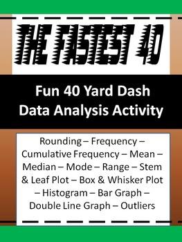 Data Charts and Graphs Activity - The Fastest 40 - Statistics - 6th Grade Math