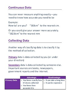 Data, Charts and Tables