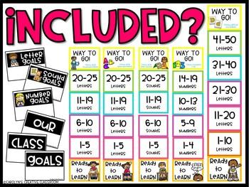 Data Clip Chart - Bright Color Version (Kindergarten Set #1)