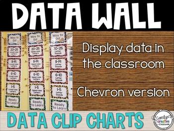 Data Clip Chart - Kindergarten - CHEVRON THEME
