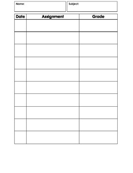 Data Collection 7 Sheets