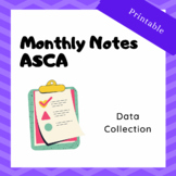 Data Collection: ASCA Monthly Delivery Services Printable