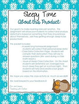 Data Collection & Bar Graph:  Sleepy Time!