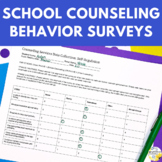 Data Collection: Behavior Surveys - School Counseling Data Tracking Forms