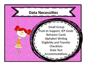 Special Education Checklists, Data Collection and Behavior